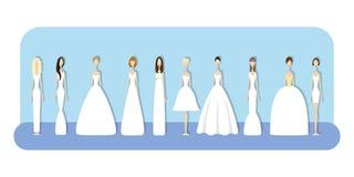 Ensemble de jeunes mariées Photo stock