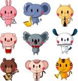 Ensemble de joueur de musique animal Images libres de droits