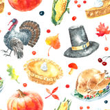 Ensemble de jour de thanksgiving illustration de vecteur