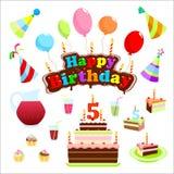 Ensemble de joyeux anniversaire Image libre de droits