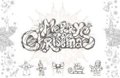 Ensemble de Joyeux Noël d'éléments décoratifs de conception Photo libre de droits