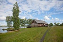 Ensemble de Kizhi Pogost et objets d'architecture en bois Photo libre de droits