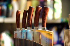 Ensemble de knifes Photographie stock libre de droits