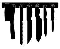 Ensemble de knifes de cuisine Photographie stock