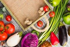 Ensemble de légumes dans le plateau Image libre de droits