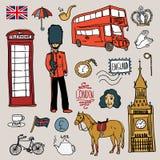 Ensemble de l'Angleterre illustration stock