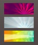 Ensemble de l'en-tête horizontal website1 de bannière Photo stock