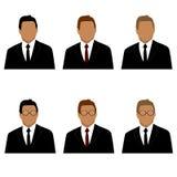 Ensemble de l'homme dans des avatars de costume Image libre de droits