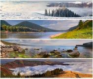 Ensemble de l'horizontal de 4 saisons Photo stock