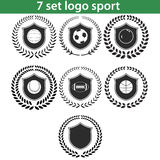 Ensemble 05 de l'ilustration sept de logo de sport Photo libre de droits