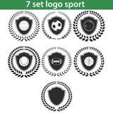 Ensemble 03 de l'ilustration sept de logo de sport Images libres de droits