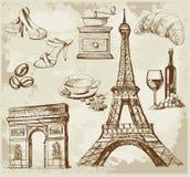 Ensemble de la France Photo stock