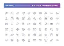 Ensemble 60 de la ligne icônes r illustration libre de droits