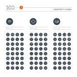 Ensemble de la ligne mince icônes de Web pour la communication Image stock