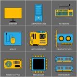 Ensemble de la ligne plate icônes de conception pour Digital illustration stock