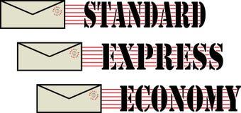 Ensemble de la livraison d'enveloppe Photo libre de droits