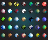 Ensemble de la terre colorée de planètes, eps10 Images libres de droits
