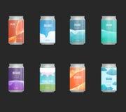 Ensemble de label de blanc de calibre pour la bouteille d'en verre, en plastique ou de papier avec la nouvelle conception illustration stock
