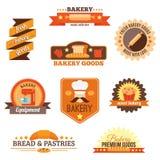 Ensemble de label de boulangerie Photographie stock libre de droits