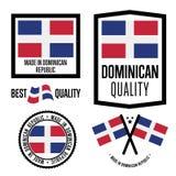 Ensemble de label de qualité de la République Dominicaine pour des marchandises illustration de vecteur