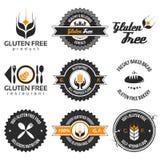 Ensemble de label gratuit de gluten Photographie stock