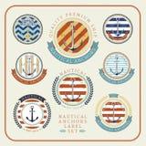 Ensemble de label nautique d'ancres 01 Illustration Stock