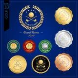 Ensemble de label ou d'emblème d'insigne de golf pour la compétition sportive Photographie stock