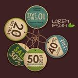 Ensemble de labels d'écologie Photographie stock
