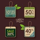 Ensemble de labels d'écologie Photographie stock libre de droits