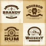 Ensemble de labels d'alcool de vintage illustration de vecteur