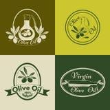 Ensemble de labels, d'insignes et de logos d'huile d'olive pour Photos stock