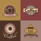 Ensemble de labels, d'insignes et de logos de café pour la conception Photo libre de droits