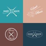 Ensemble de labels, d'insignes et de logos fabriqués à la main pour Photos libres de droits