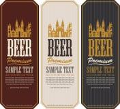 Ensemble de labels de bière illustration libre de droits