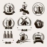 Ensemble de labels de bière. Vecteur Photographie stock