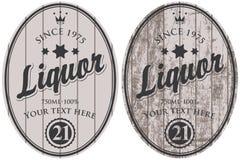 Ensemble de labels de boisson alcoolisée de vecteur illustration stock
