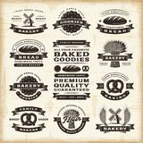 Ensemble de labels de boulangerie de vintage Photo stock