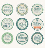 Ensemble de labels de boulangerie de vintage Photos libres de droits