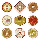 Ensemble de labels de café Photographie stock