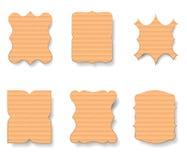 Ensemble de labels de carton, illustration de vecteur Photos stock