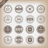 Ensemble de labels de la meilleure qualité de qualité de cru Photos libres de droits