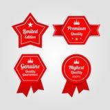Ensemble de labels de la meilleure qualité de qualité de cru Image stock