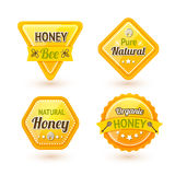 Ensemble de labels de miel Photographie stock