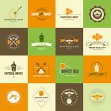 Ensemble de labels de miel Photographie stock libre de droits