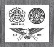 Ensemble de labels de moto de vintage Images libres de droits