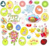 Ensemble de labels de Pâques Images stock