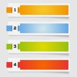 Ensemble de labels de papier - options Images stock