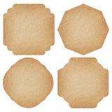 Ensemble de labels de papier réutilisé Images stock