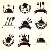 Ensemble de labels de restaurant Vecteur Photographie stock libre de droits