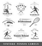Ensemble de labels de tennis de vintage Images libres de droits